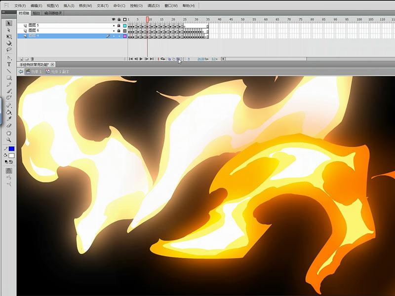 手绘特效动画软件flash基础入门与使用技巧